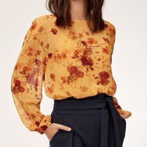 Aritzia (Wilfred) Talmont Floral Bodysuit